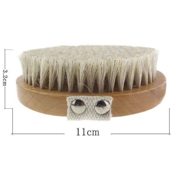 Orienex ボディブラシ 豚毛 ハンドメイド マッサージ ソフト 洗体 ボディケア バスグッズ 天然素材 父の日