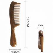 Orienex 高級木製櫛 ヘアブラシ ヘアコーム 静電気防止 頭皮マッサージ 天然緑檀 (並歯) 2